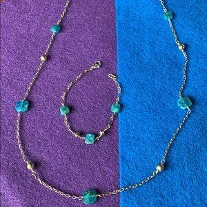 *Apatite necklace & bracelet